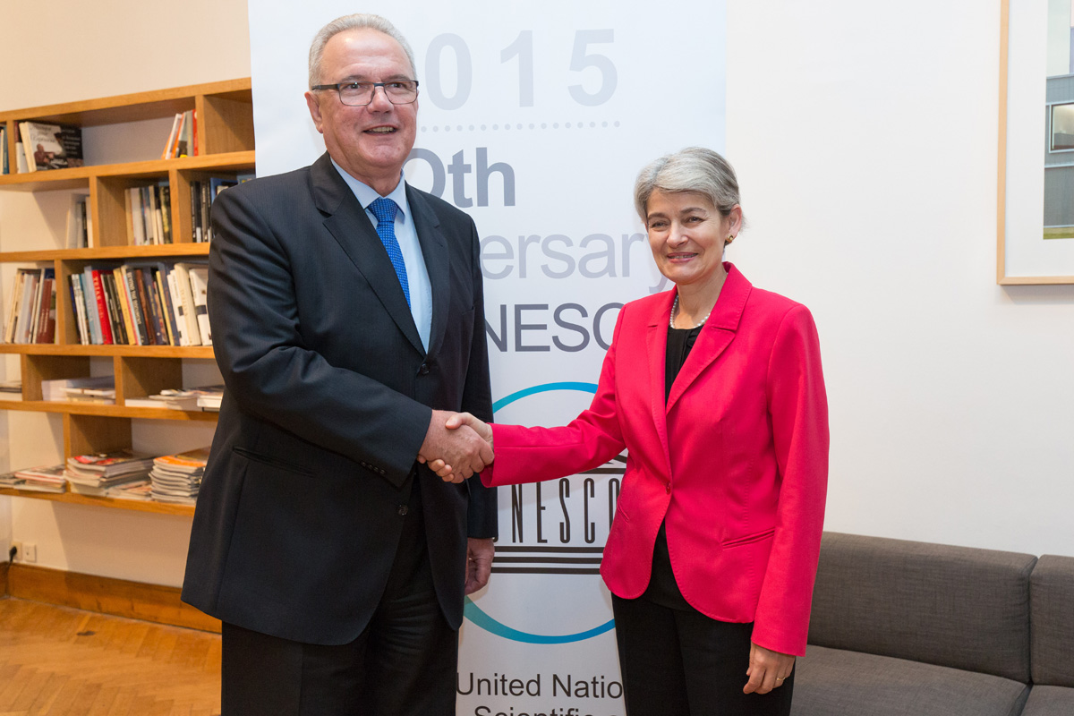 Mrs Irina Bokova and Mr Neven Mimica