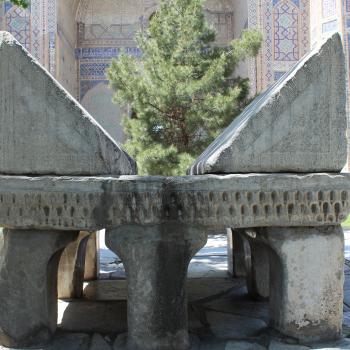Great Marble Koran outside the Bibi Khanym Mosque in Samarkand