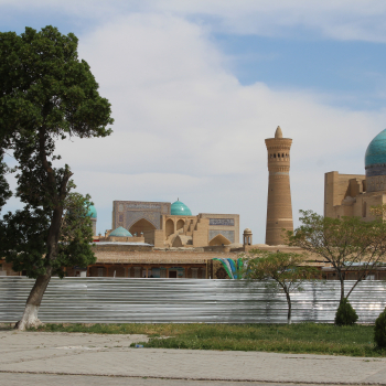 Minaret from a distance in Bukhara