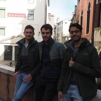 Young Explorers Outside Marco Polo's House in Venice