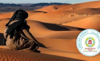 Touareg looks at the Moroccan desert