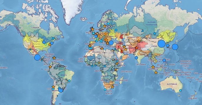 IHP-WINS allows users to create tailor-made maps incorporating water data