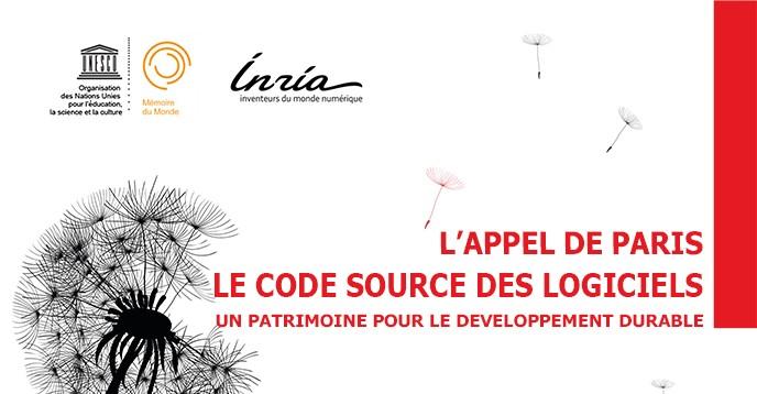 L'appel de Paris: le code source des logiciels, un patrimoine pour le développement durable