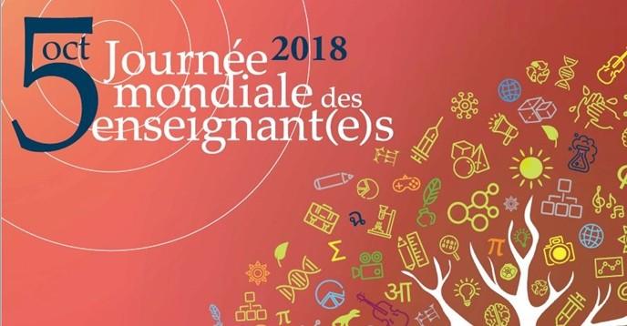 Affiche de lUNESCO de la journée mondiale des enseignants